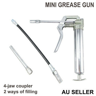 Mini Grease Gun Manual 3oz./ 120cc Hand Pistol Grip Flexible Extension Hose