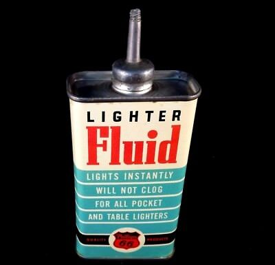 Vintage Phillips 66 Lighter Fluid Handy Oiler Lead Top Spout Rare Old Tin Can
