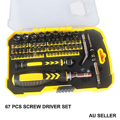 67pc Set Screwdriver Precision Tool Torx Screw Driver Kit Repair PC Phone Laptop