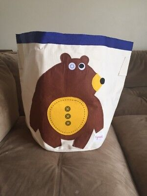 3 Sprouts Storage Bin, Bear
