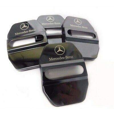 Stainless Black Car Door Lock Ring Protective Cover For Mercedes Benz #V2