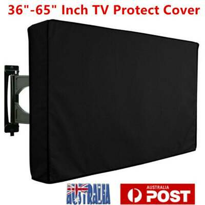 """35"""" - 65"""" Inch Waterproof TV Cover Outdoor Patio Flat Television Protector Black"""
