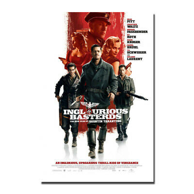 Inglourious Basterds Hot Movie Art Silk Canvas Poster Print 12x18 32x48 inch