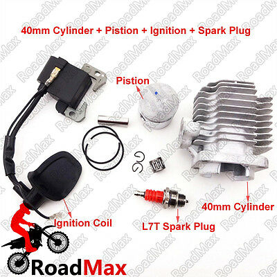 Spark Ignition Coil 40mm Cylinder Piston For 47cc ATV Pocket Dirt Bike Go Kart