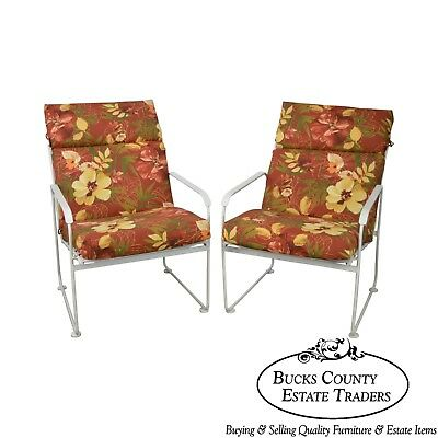 Woodard Vintage Pair of Wrought Iron Patio Arm Chairs