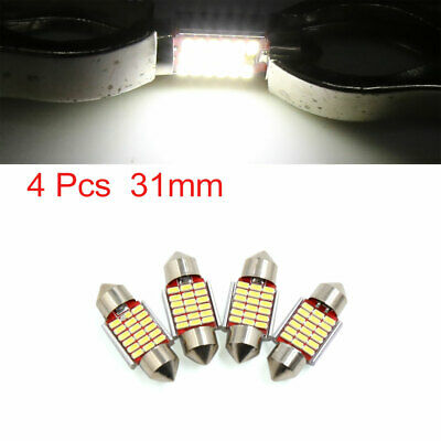 4pcs White 31mm 4014 SMD 18 LED Car Lights Festoon Interior Dome Map Lamp Bulb
