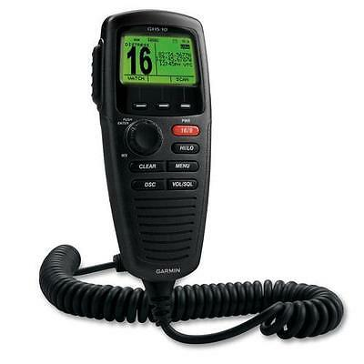 Garmin Black GHS 10 Wired VHF Handset - A Rotary/Push Knob For Volume, Squelch