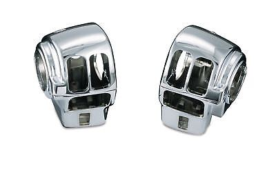 Kuryakyn 7806 Switch Housing Covers Harley w/o Cruise 4/4 Left & Right Chrome