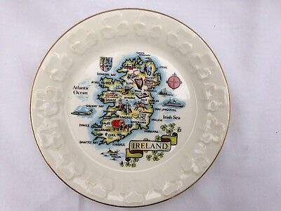 Vintage Decorative Plate Made in Cork Ireland Carrigaline Pottery Co.