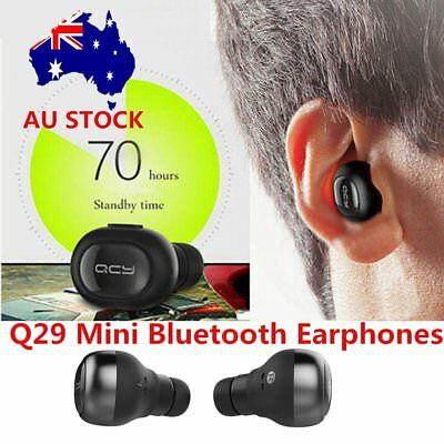 QCY Q29 Mini Business Bluetooth Earphones Wireless 3D Stereo Headphones LOT CO