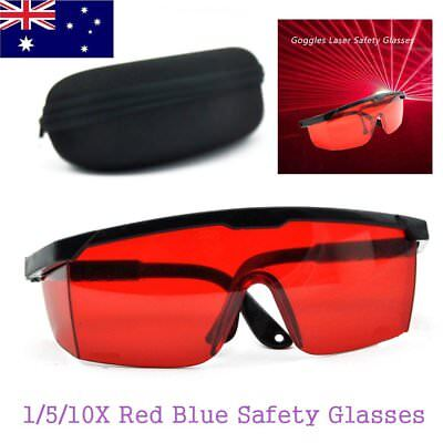 10X Protection Goggles Laser Safety Glasses Red Blue With Velvet Box CO