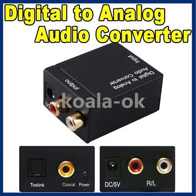 RCA Digital Optical Coax Coaxial Toslink to Analog Audio Converter Adapter AG