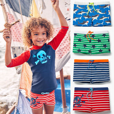 US Toddler Kids Boys Swim Shorts Trunks Swimming Surfing Swimwear Bathers Pants