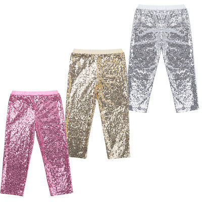 Kids Baby Girls Sequin Clothes Bottoms Toddler Legging Long Pants Party Trousers