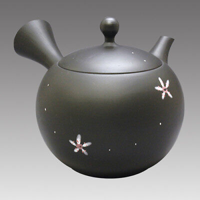 Tokoname Kyusu teapot - JINSUI - Flower 310cc/ml - Refresh stainless steel net