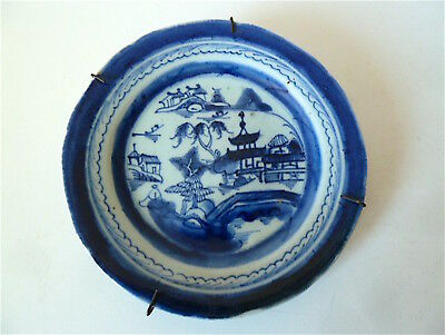 Assiette Ancienne Porcelaine de Chine blanc bleu Chinese chinoise china Asie 中国