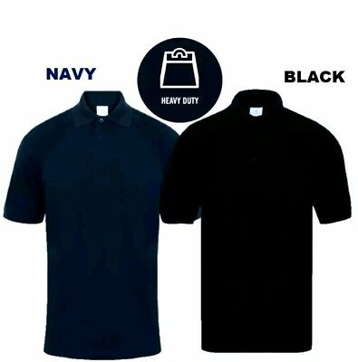 Mens New Heavy Duty Casual Work Wear Short Sleeve Top Men's Polo Shirt T-Shirt