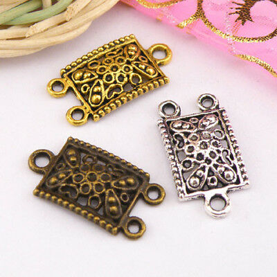 8Pcs Tibetan Silver,Antiqued Gold,Bronze Charms Pendant Connectors M1249