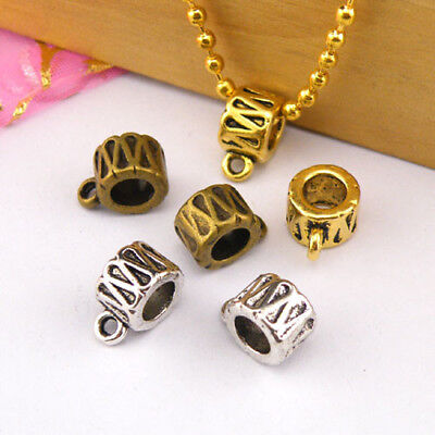 6Pc Tibetan Silver,Gold,Bronze Charm Pendant Bail Connector Fit Bracelet M1246