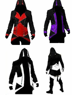 Giacca Giubbotto Assassin's Creed Cappuccio Cosplay Costume Coat Ezio Conner