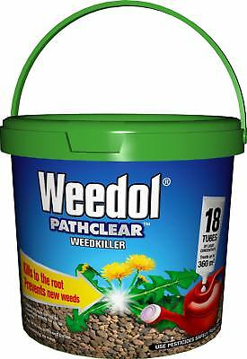 Weedol Pathclear Weedkiller Kills Roots & Prevents Weeds Treats 360m2 18 Tubes