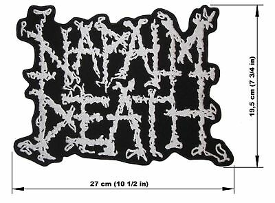 NAPALM DEATH logo BACK PATCH embroidered NEW grindcore death metal punk hardcore