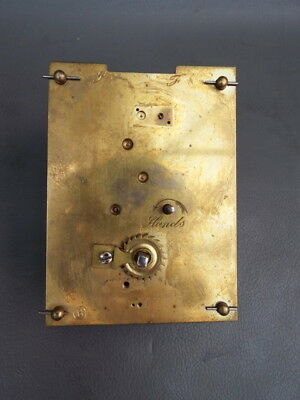 Vintage carriage clock movement for repair or parts