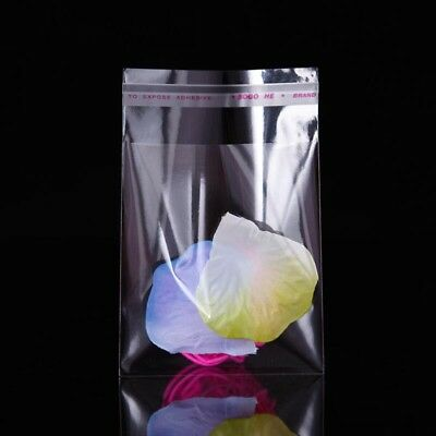 1x 100pcs 5x7cm Self Adhesive Plastic Bag Clear Jewelry Packaging
