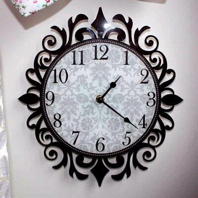 Damask Decorative Clock, Vintage Wall Clock, Ornate Design Clock Lots of Colour