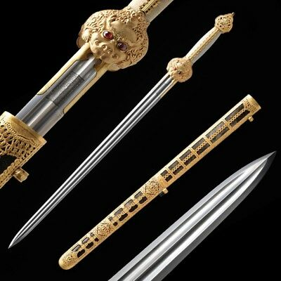 Emperor Broadsword waist knife Sword Hand Forged pattern steel blade sharp #064