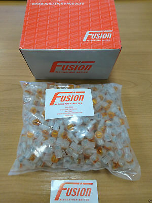 2 Wire 8A Jelly (500 Pack) Genuine Fusion Telephone Crimps Connector Bt Virgin