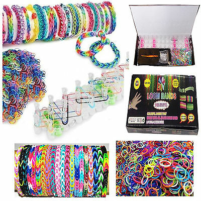 Loom Bands Colourful Kit with Bands, Charms, Clips & Hooks Box of 600