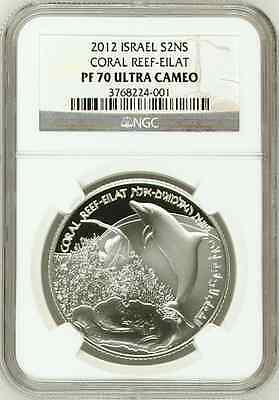 2012 Israel S2NS Coral Reef-Eilat NGC PF70 UC Ultra Cameo Silver Coin