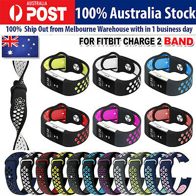 For Fitbit Charge 2 Bands Soft Silicone Adjustable Replacement Sport Strap Band