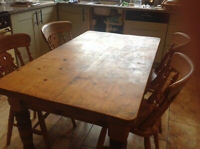 Victorian Farmhouse Table and four chairs