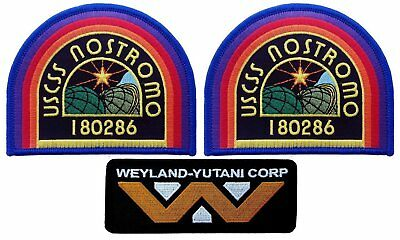 USCSS Nostromo Weyland Yutani Corp Alien Movie Collector Cosplay Patch Set