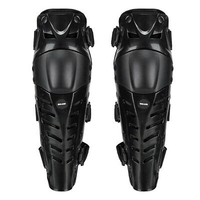 Off-Road Motocross Body Leg Protection Armor Knee Guard Shin Pads 42cm Black
