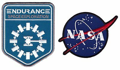 Set: Nasa + Interstellar Endurance Nolan Alien Sci Fi Movie Película Patch Iron