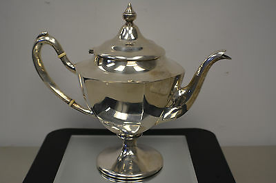 Antique Vintage WOODWARD & LOTHROP Sterling Silver Teapot 0370 Free Shipping