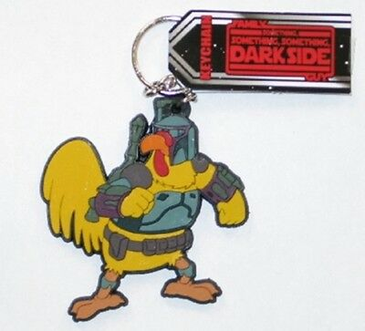 The Family Guy TV Series Dark Side Chicken Boba Fett Keychain, NEW UNUSED