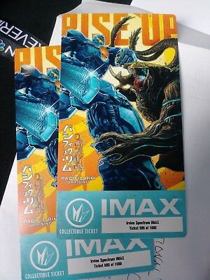 Regal Exclusive Pacific Rim Uprising Collectible Ticket