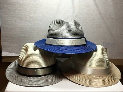 fe5c7002 NEW WITH TAG Men's Stacy Adams SA 588 Fedora Straw Hat - $44.99 ...