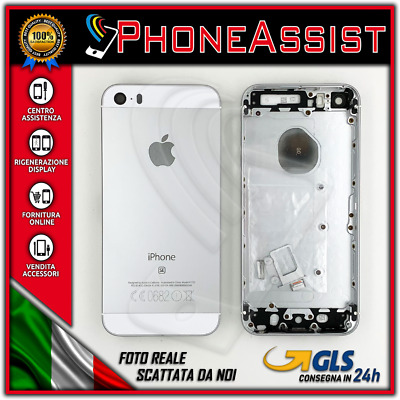 TELAIO SCOCCA POSTERIORE iPhone SE BACK COVER MIDDLE Argento Bianco Silver