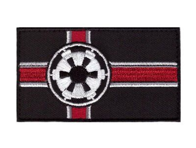 Imperial Flag Star Galactic Empire Wars VELCRO® BRAND Hook Fastener Patch