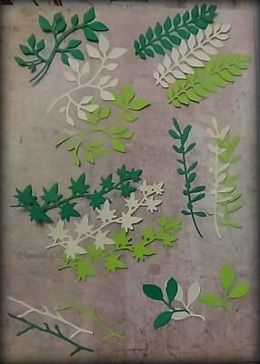 18pc, Sizzix, Die Cut, Spring Greenery, Scrapbook, cards, Tags, Paper Crafts