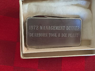 Advertising Money Clip & Folding Knife Dearborn Tool & Die Plant - Imperial