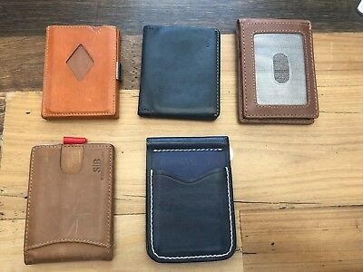 Assortment of men's wallets (5) - All Leather