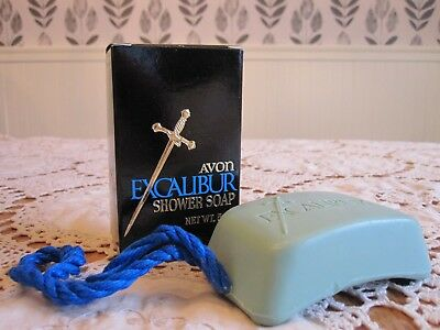 AVON EXCALIBUR Shower Soap Soap-On-A-Rope Vintage with Original Box Unused NIB