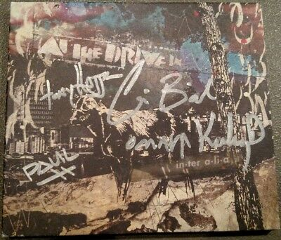 At The Drive In Signed Autographed CD Cover