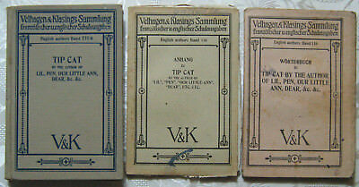 Antiquarisch V&K English authors Band 116 TIP CAT 3 Teile 1926 Velhagen Klasing